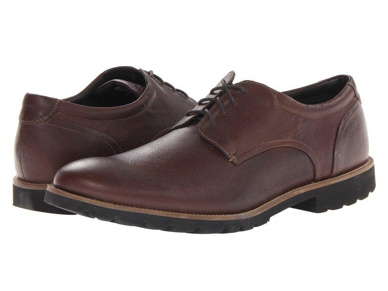 ロックポート メンズ オックスフォード シューズ Colben Plain Toe Oxford Chocolate Brown