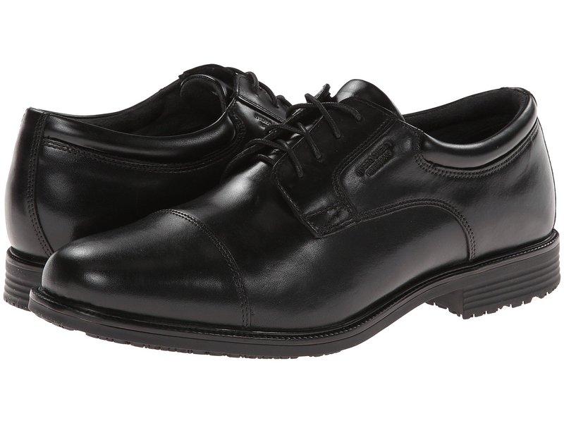 ロックポート メンズ オックスフォード シューズ Lead The Pack Cap Toe Black WP Leather
