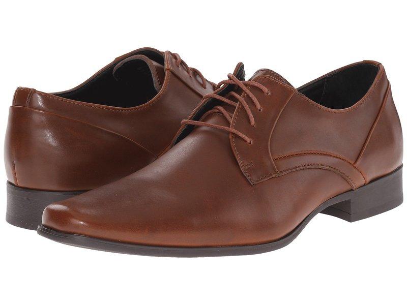 カルバンクライン メンズ オックスフォード シューズ Benton British Tan Textured Leather