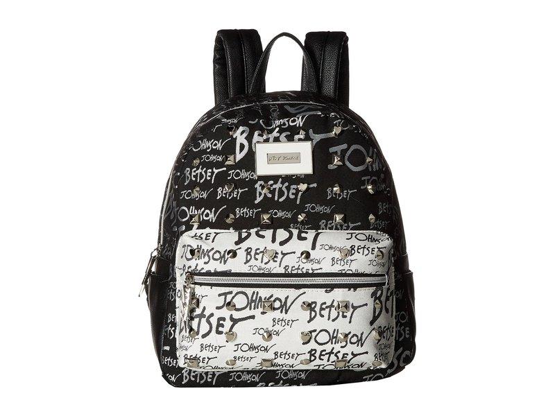 ベッツィジョンソン レディース バックパック・リュックサック バッグ Backpack Black/White