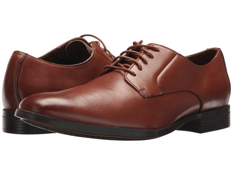 クラークス メンズ オックスフォード シューズ Conwell Cap Tan Leather