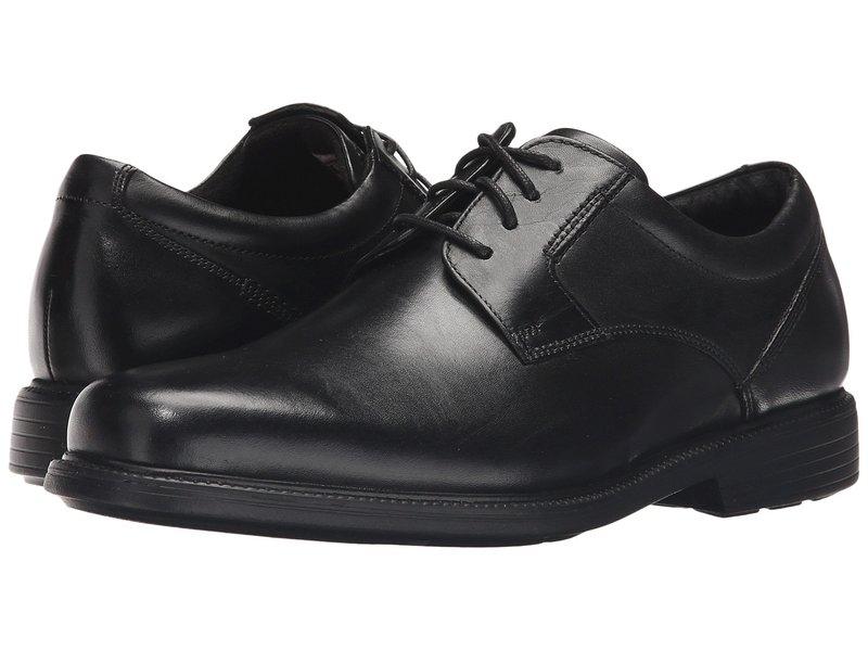 ロックポート メンズ オックスフォード シューズ Charles Road Plain Toe Oxford Black Leather