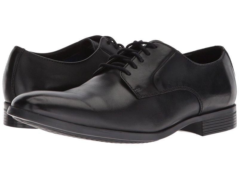 クラークス メンズ オックスフォード シューズ Conwell Plain Black Leather