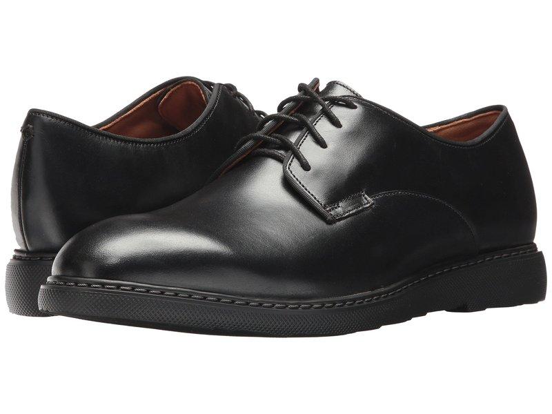 ボストニアン メンズ オックスフォード シューズ Cahal Plain Black Leather