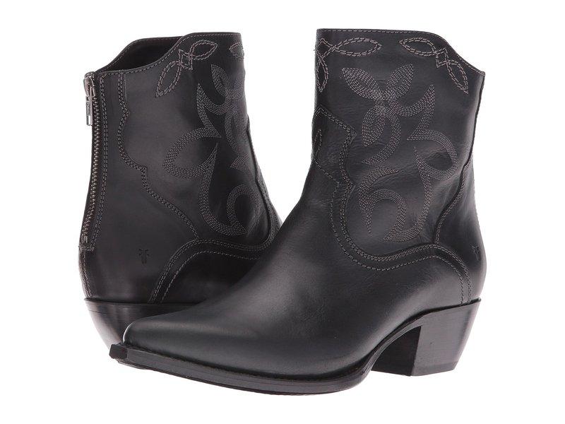 フライ レディース ブーツ・レインブーツ シューズ Shane Embroidered Short Black Smooth Veg Calf