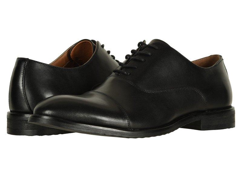 フライ メンズ オックスフォード シューズ Scott Cap Toe Black Leather