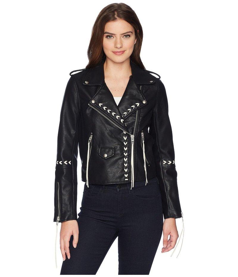 ブランクニューヨーク レディース コート アウター Bonded Vegan Leather Jacket with Lacing Detail in Second Chances Second Chances