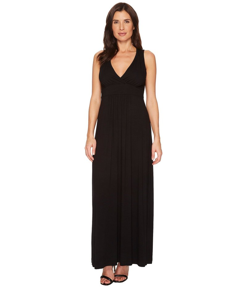 カレンケーン レディース ワンピース トップス V-Neck Maxi Dress Black