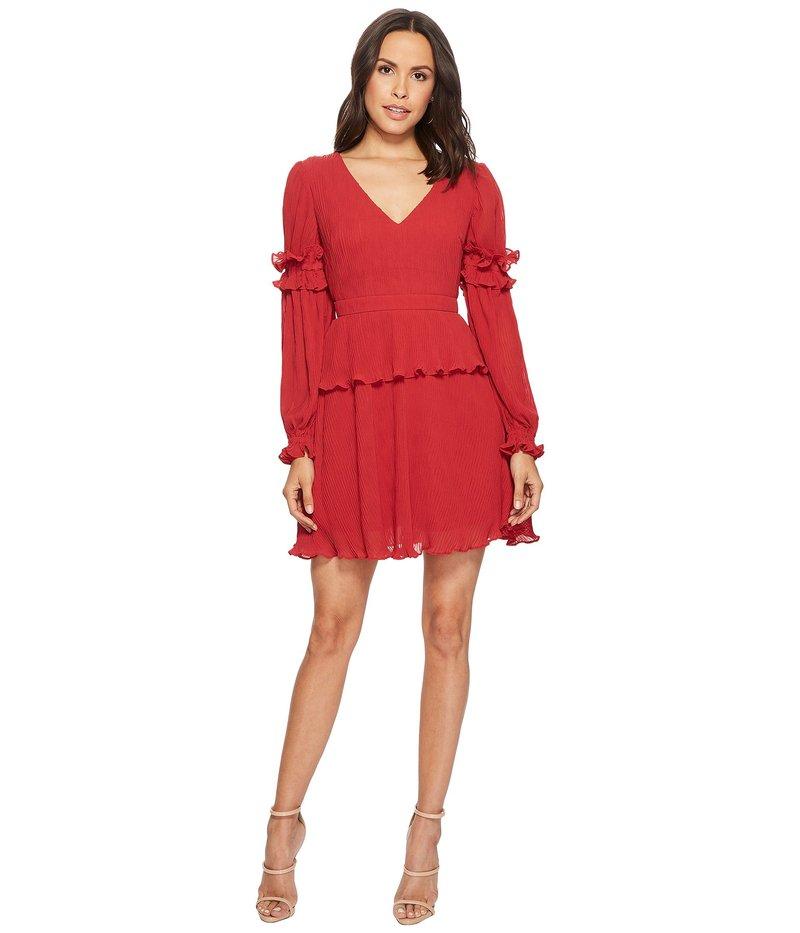 キープサケザレーベル レディース ワンピース トップス Skylines Mini Dress Scarlet Red