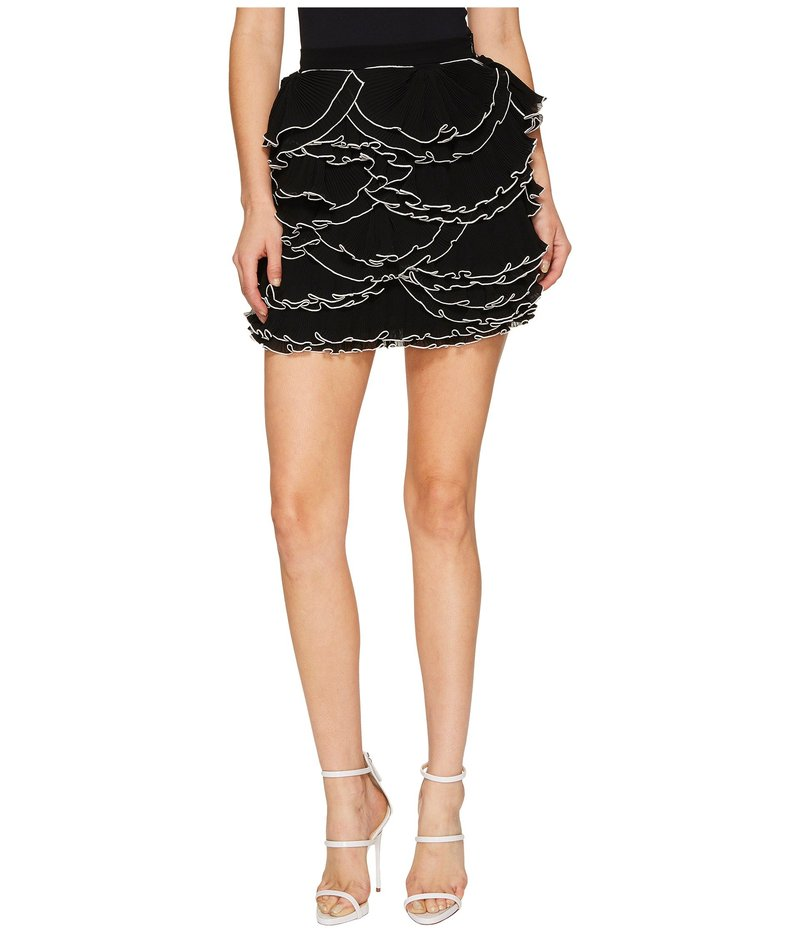 ブティックモスキーノ レディース スカート ボトムス Georgette Ruffle Skirt Black/White