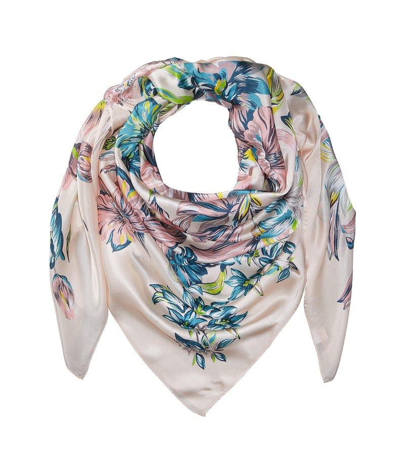 エコーデザイン レディース マフラー・ストール・スカーフ アクセサリー Adelaide Floral Silk Square Whitecap