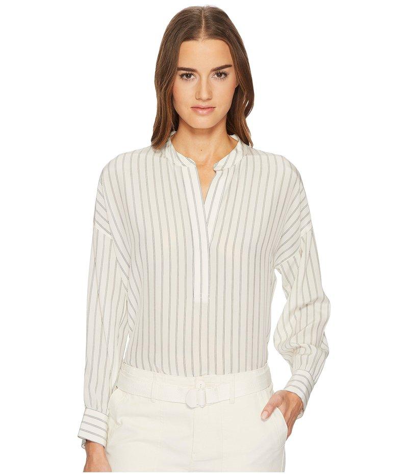 ヴィンス レディース シャツ トップス Double Stripe Shirred Drape Pullover Cream