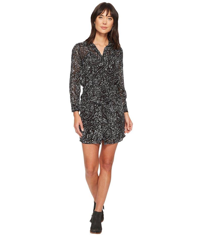 ラッキーブランド レディース ワンピース トップス Printed Tie Front Dress Black Multi