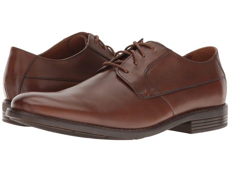クラークス メンズ オックスフォード シューズ Becken Plain Tan Leather