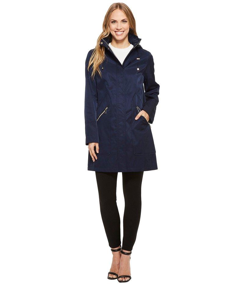 イヴァンカ・トランプ レディース コート アウター Zipper Front Oversized Pocket Hooded Raincoat Navy