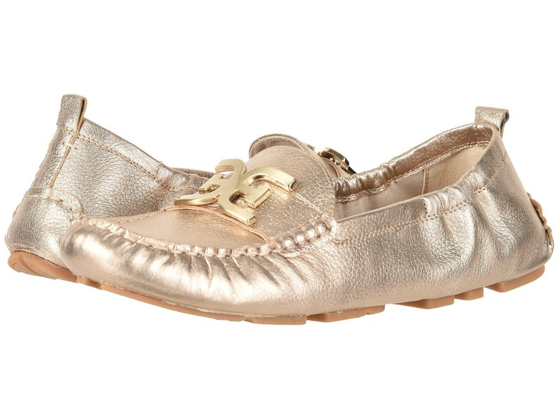 サムエデルマン レディース スリッポン・ローファー シューズ Farrell Dark Molten Gold Tumbled Opal Metallic Leather