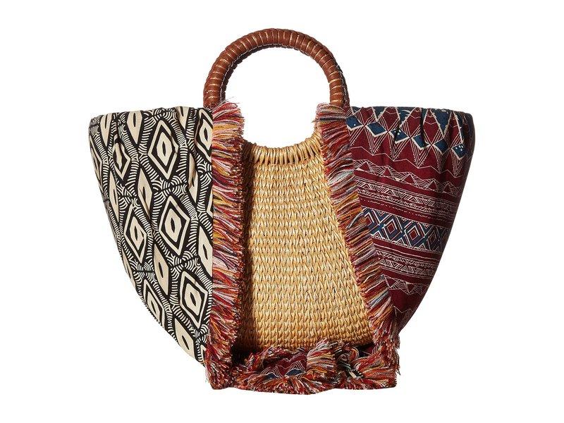サムエデルマン レディース ハンドバッグ バッグ Adira Straw Basket w/ Shoulder Scarf Strap Aztec Multi