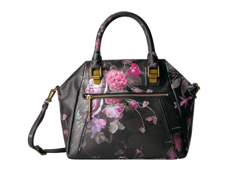 エリオットルカ レディース ハンドバッグ バッグ Faro City Satchel Black Rose Floral