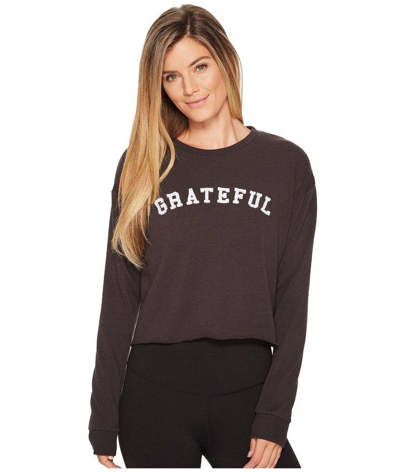 スピリチュアルギャングスタ レディース パーカー・スウェット アウター Grateful Arch Crop Sweatshirt Vintage Black