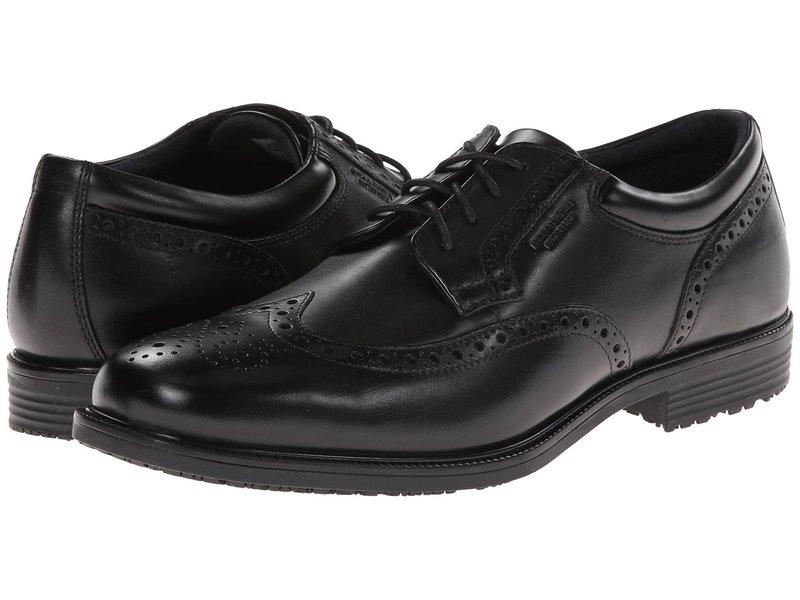 ロックポート メンズ オックスフォード シューズ LTP Wing Tip Black WP Leather