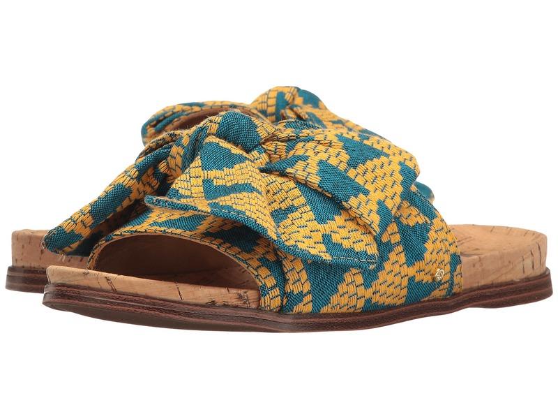 サムエデルマン レディース サンダル シューズ Henna Yellow Multi Triangle Weave Fabric