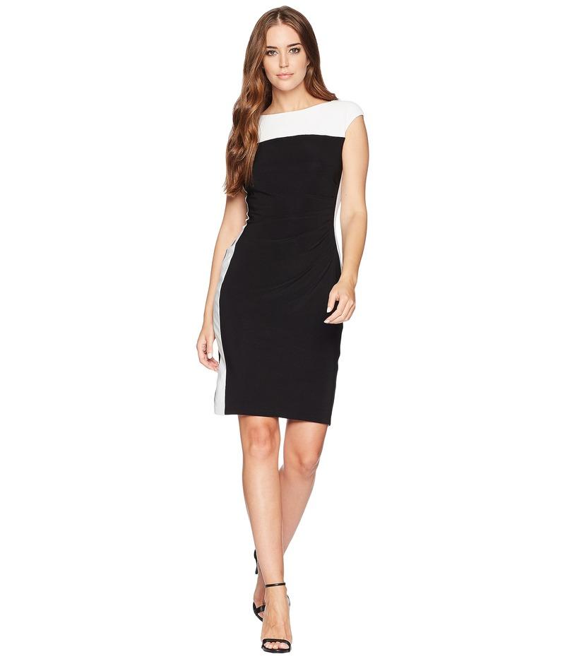 チャップス レディース ワンピース トップス Two-Tone Jersey Dress Black/Colonial Cream
