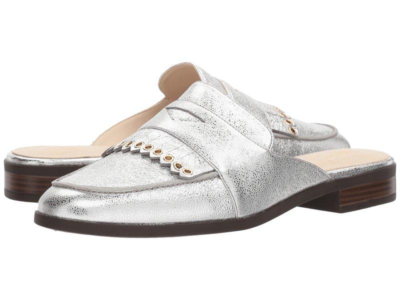 コールハーン レディース サンダル シューズ Pinch Kiltie Slide Silver Crackle Metallic Leather