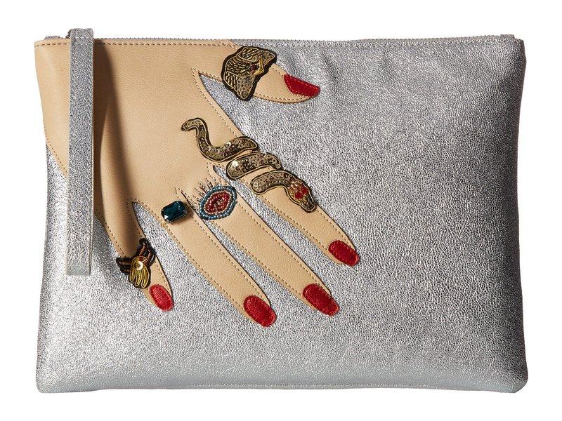 サムエデルマン レディース ハンドバッグ バッグ Jeana Hand Pouch Silver