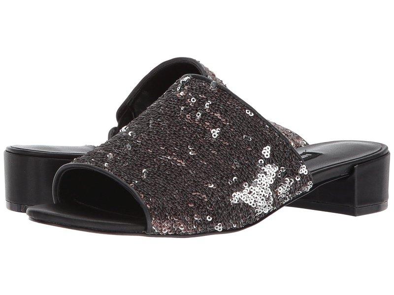 ナインウェスト レディース ヒール シューズ Raissa Slide Sandal Black/Black Synthetic