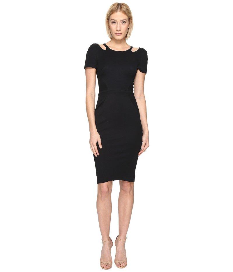 ザックポーゼン レディース ワンピース トップス Bondage Cut Out Jersey Short Sleeve Dress Black