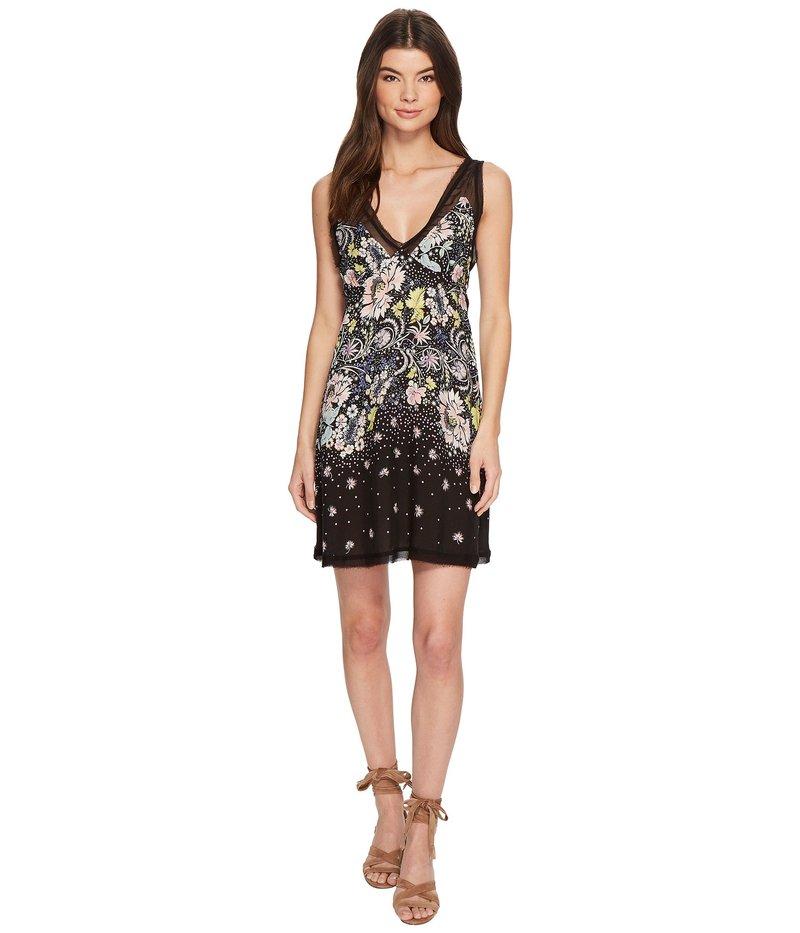 フリーピープル レディース ワンピース トップス Longwood Printed Slip Dress Black