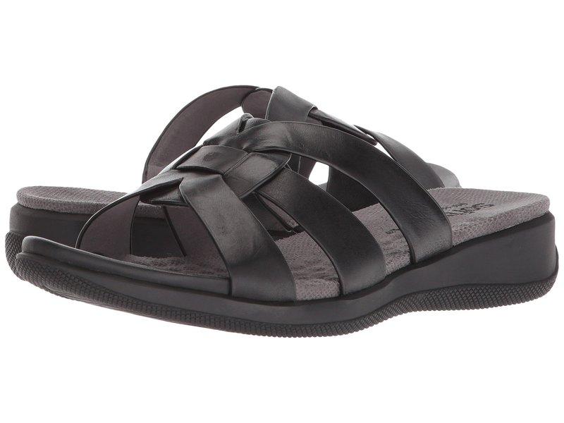 ソフトウォーク レディース サンダル シューズ Thompson Black Soft Sandal Leather