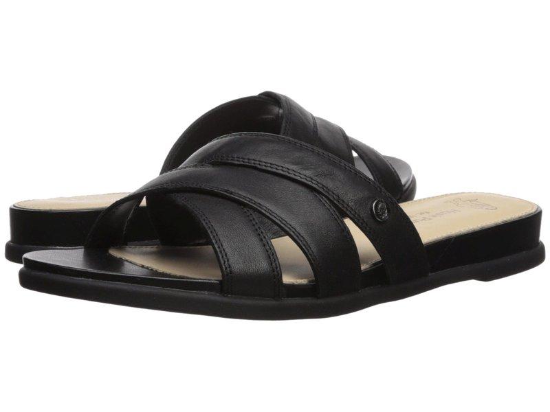 ハッシュパピー レディース サンダル シューズ Dalmatian Slide Black Leather