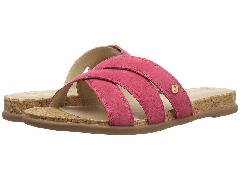 ハッシュパピー レディース サンダル シューズ Dalmatian Slide Paradise Pink Suede