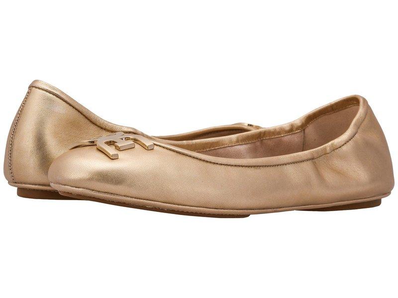 サムエデルマン レディース サンダル シューズ Florence Molten Gold Soft Metallic Sheep Leather