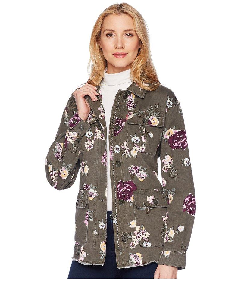 リーバイス レディース コート アウター Printed Cotton Four-Pocket Floral Cotton Jacket Floral Army Green