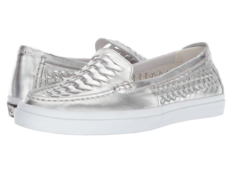 コールハーン レディース スリッポン・ローファー シューズ Pinch Weekender Luxe Huarache Ch Argento Metallic Leather/Optic White