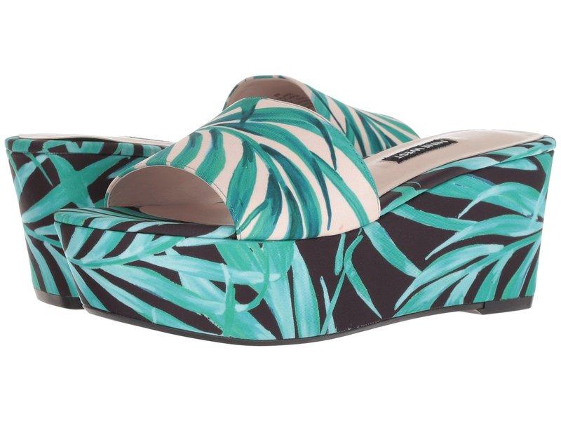 ナインウェスト レディース ヒール シューズ Falardo Platform Wedge Slide Sandal Pink Multi Fabric