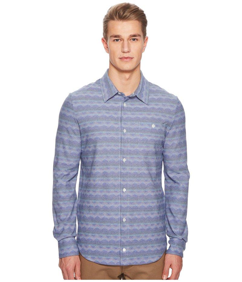 ミッソーニ メンズ シャツ トップス Jersey Denim Zigzag Button Up Shirt Blue