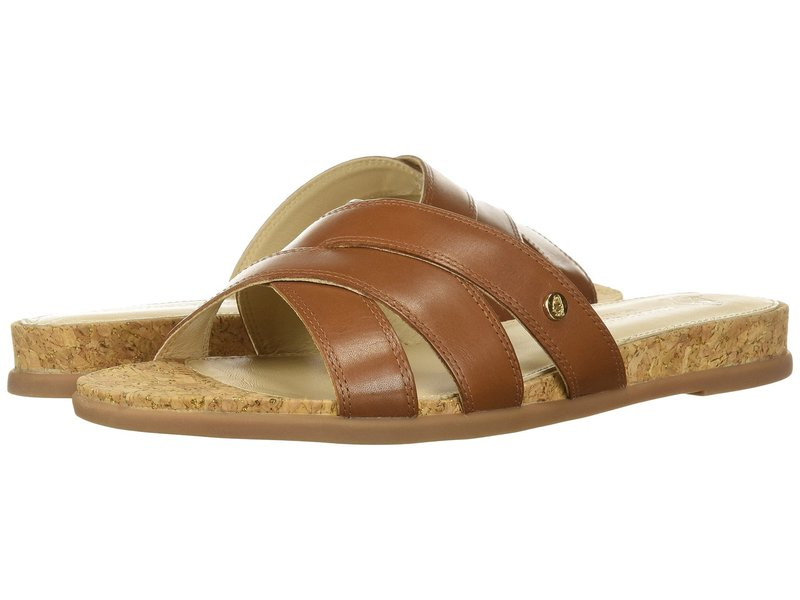 ハッシュパピー レディース サンダル シューズ Dalmatian Slide Tan Leather