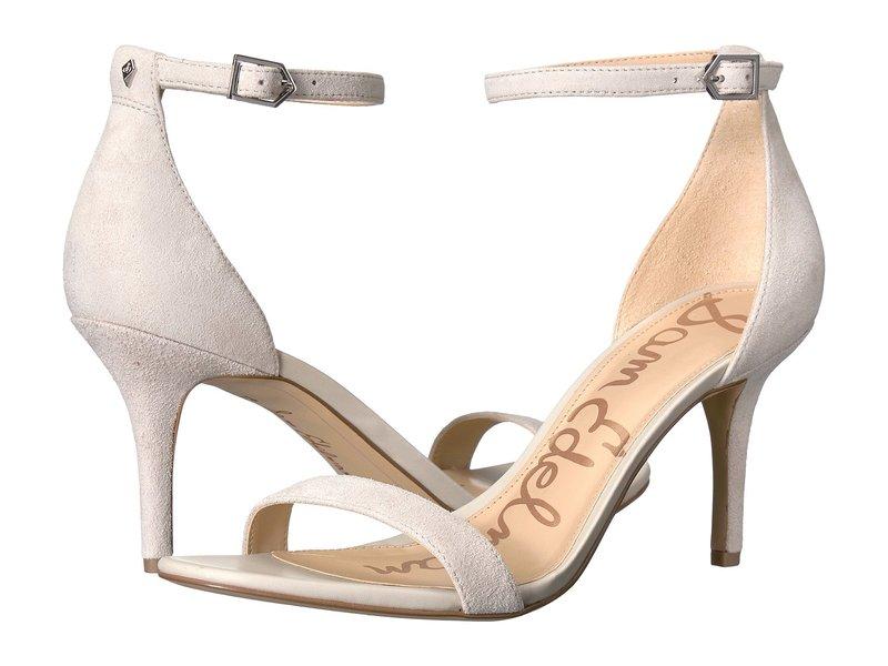 サムエデルマン レディース ヒール シューズ Patti Strappy Sandal Heel Grey Kid Suede Leather