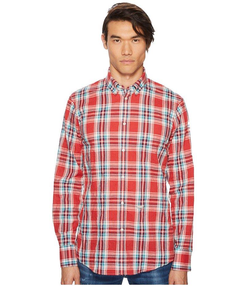 ディースクエアード メンズ シャツ トップス Plaid Shirt Red/Blue/White