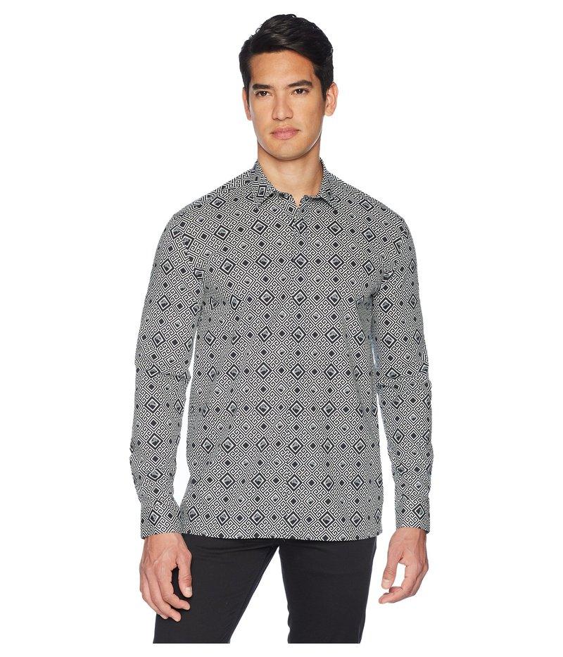 ヴェルサーチ メンズ シャツ トップス Medusa Geo Print Shirt White/Black