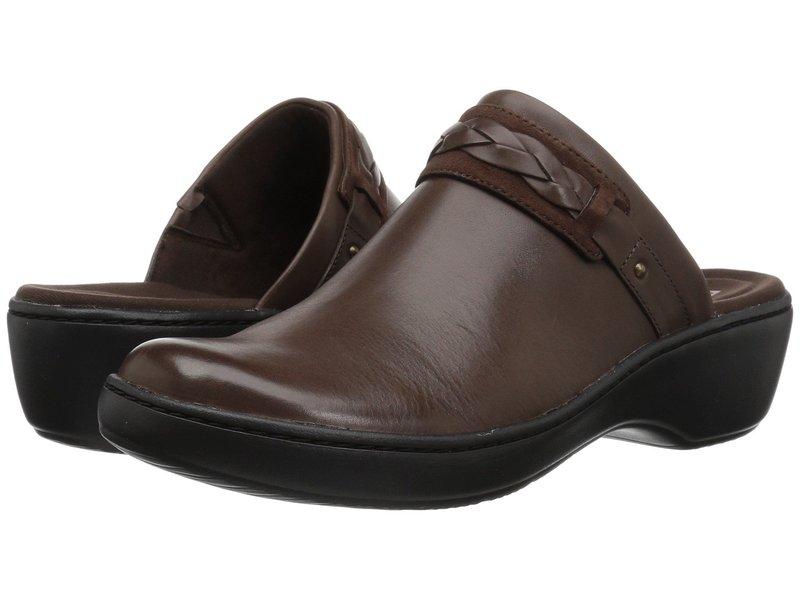 クラークス レディース サンダル シューズ Delana Abbey Dark Brown Leather