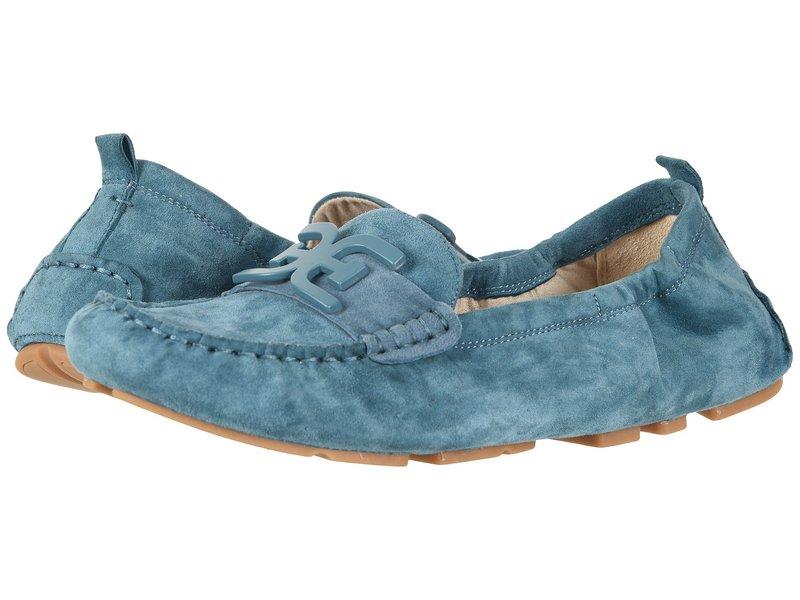 サムエデルマン レディース スリッポン・ローファー シューズ Farrell Denim Blue Kid Suede Leather