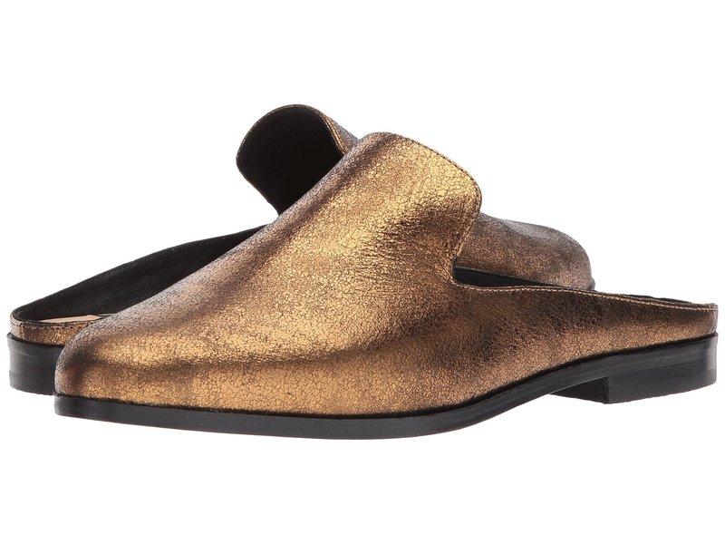 ダナキャラン レディース サンダル シューズ Mott Mule Bronze Crinkled Metallic