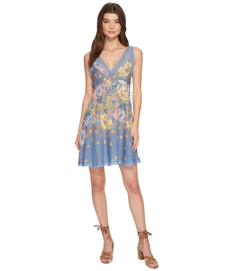 フリーピープル レディース ワンピース トップス Longwood Printed Slip Dress Blue