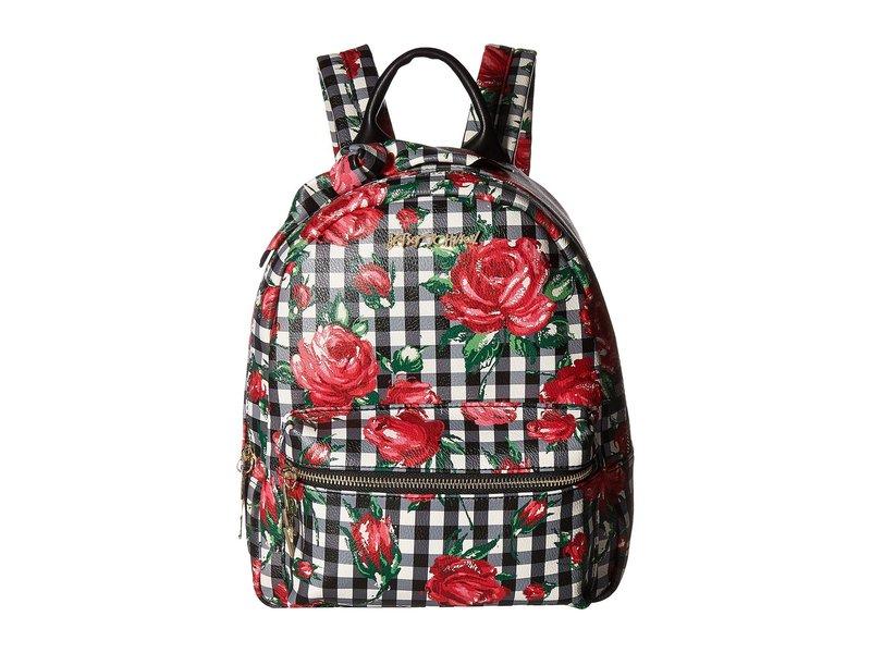 ベッツィジョンソン レディース バックパック・リュックサック バッグ Gingham Style Backpack Black Floral