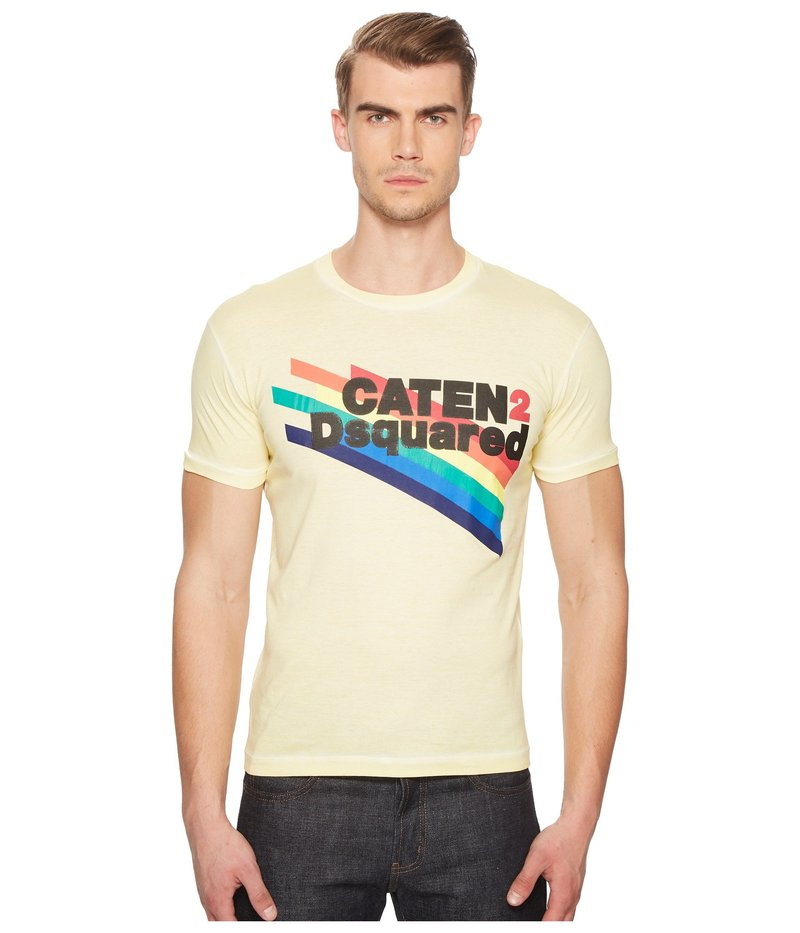 ディースクエアード メンズ シャツ トップス Faded Dyed T-Shirt Light Yellow
