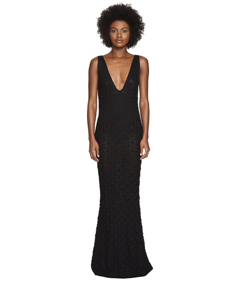 ザックポーゼン レディース ワンピース トップス Dandelion Lace Knit Sleeveless Maxi Dress Black